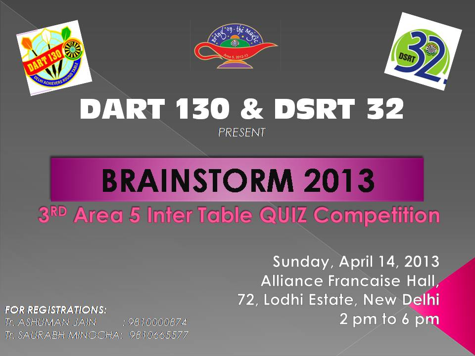 DART QUIZ Competition 13